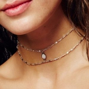 ✨NEW Silver Bohemia Double Layer Necklace w/ Opal✨